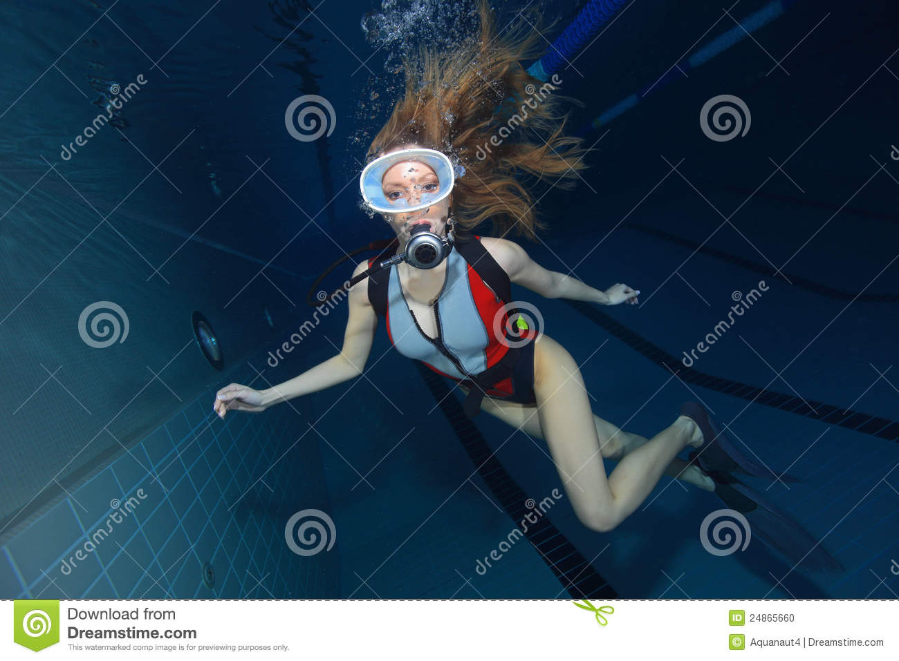 Women scuba diving fetish