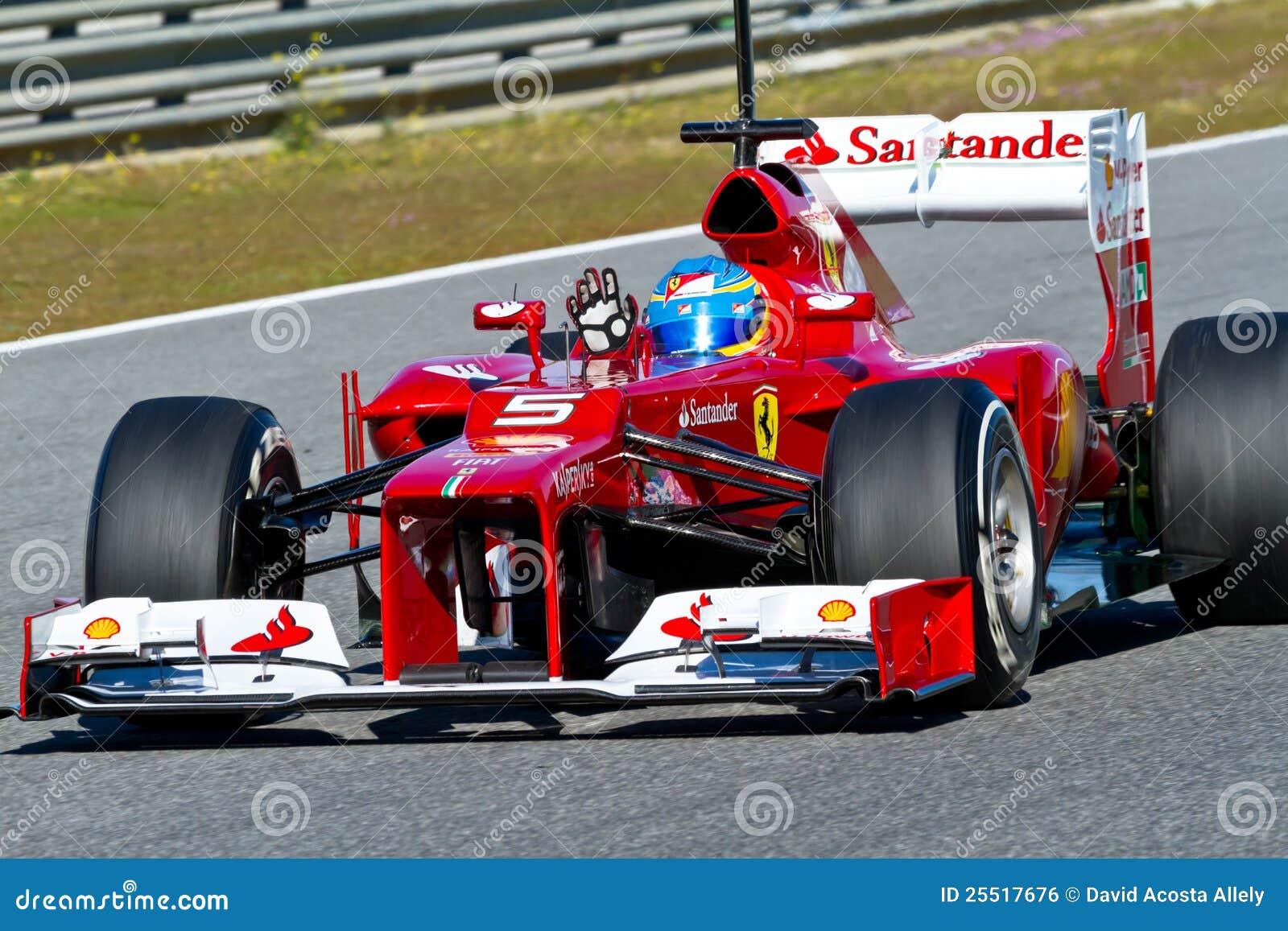 Scuderia Ferrari F1 Fernando Alonso 2012 Redaktionelles Foto Bild Von Drehzahl Accelerate 25517676