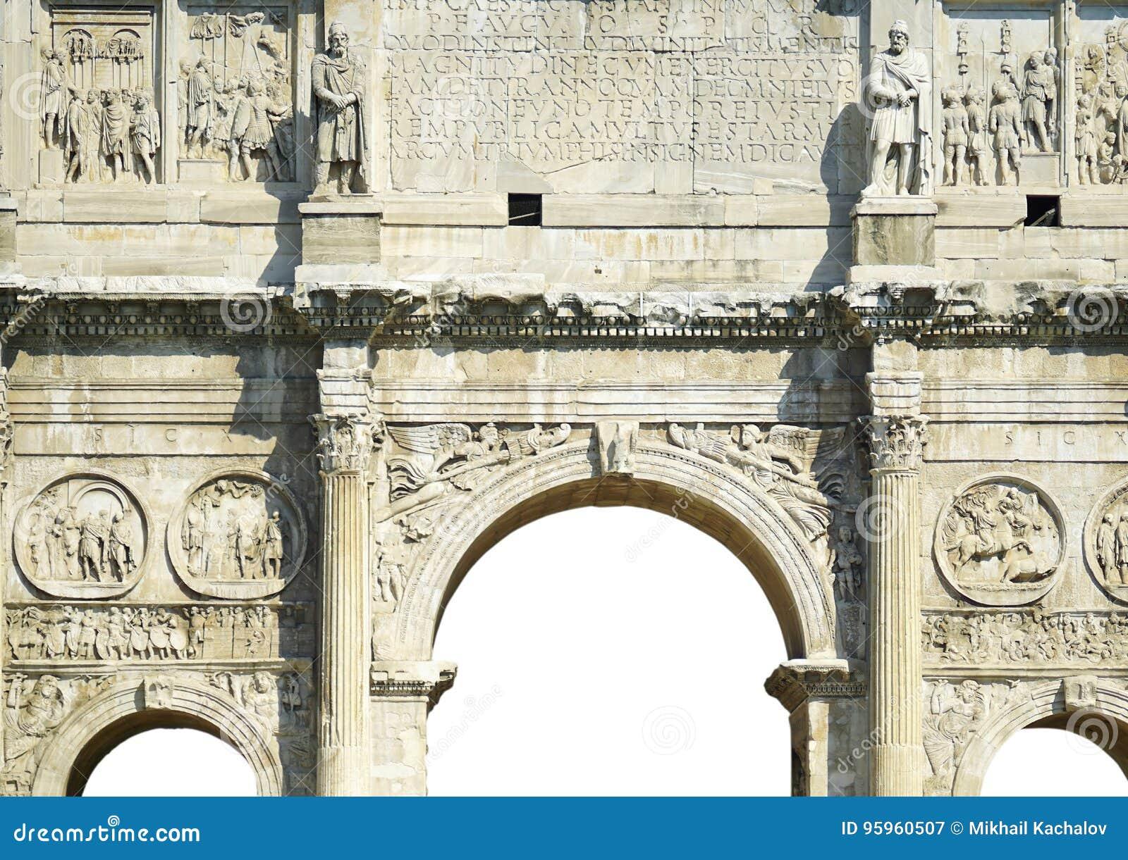 Sculptural decoration Constantine arch