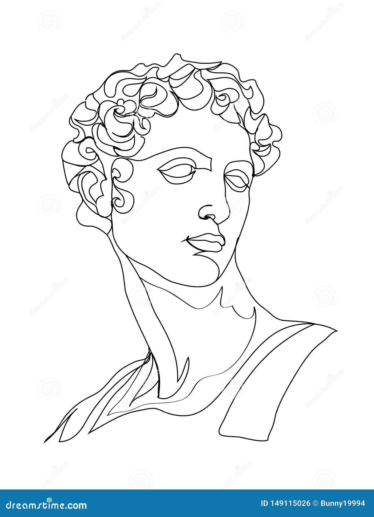 Sculpture е RGBOne de ‹du ½ Ñ du ² Ð du ¾ Ð du ½ Ð du  Ð de ÐžÑ en croquis de dessin au trait Sch?ma simple moderne, d?coupe es