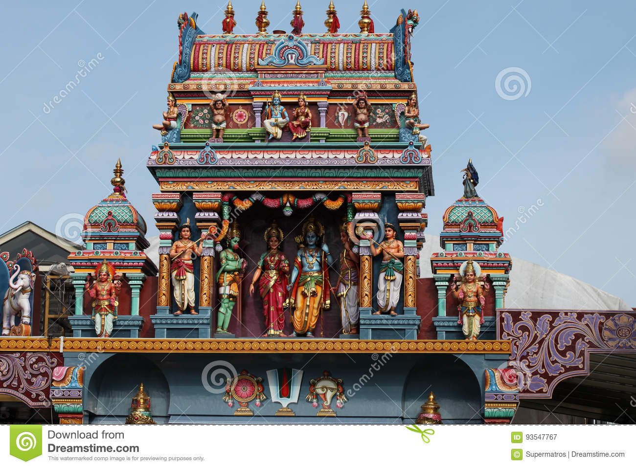 Sculpture Architecture And Symbols Of Hinduism And Buddhism Stock