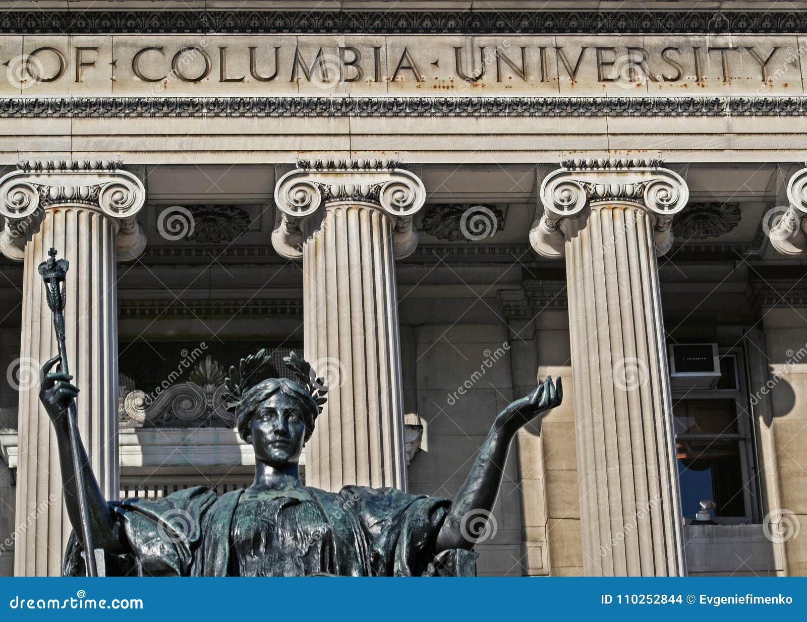 Sculpture d Alma Mater à l Université de Columbia