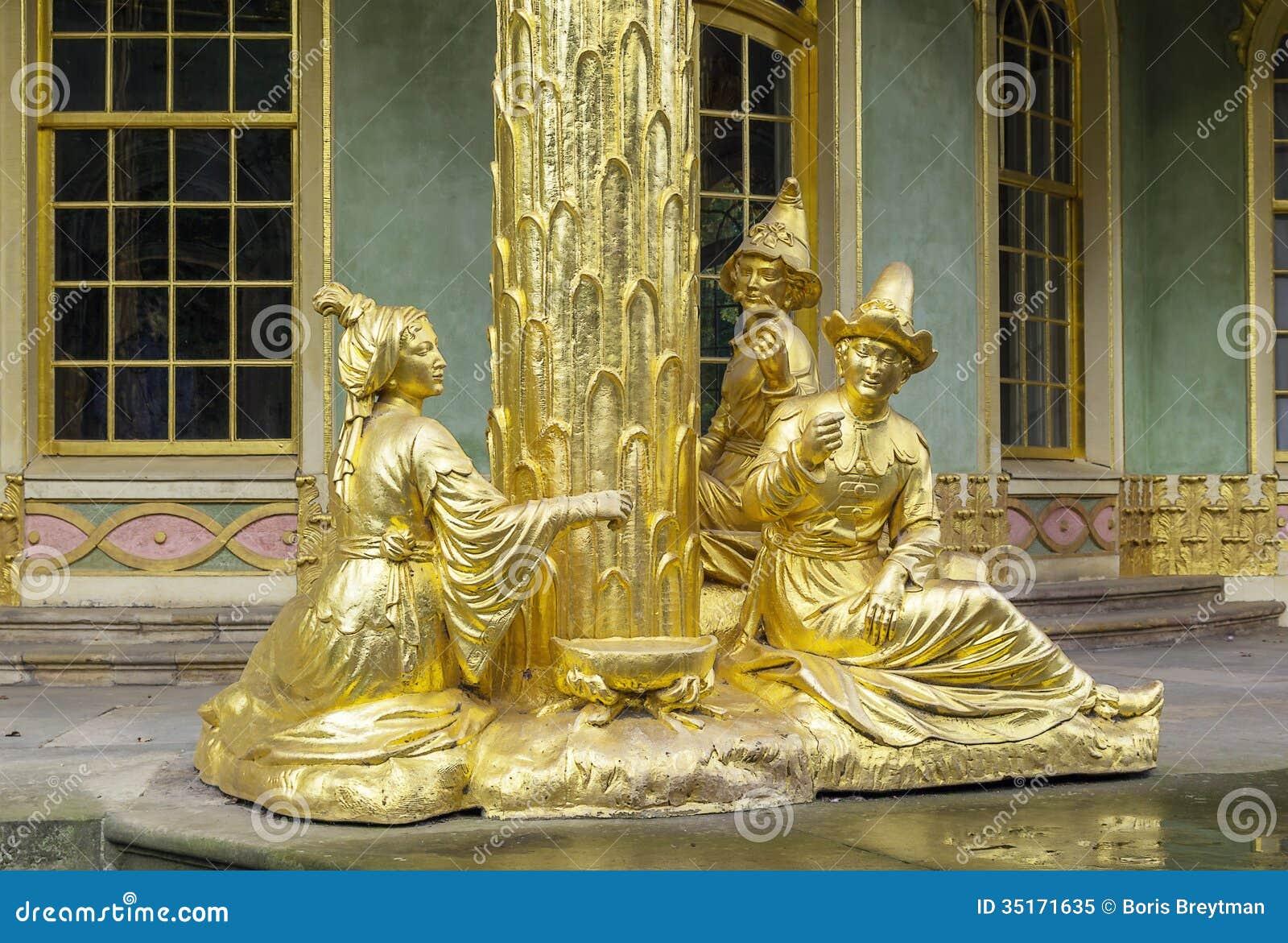 Sculpture De Chambre Chinoise, Potsdam, Allemagne Image stock ...