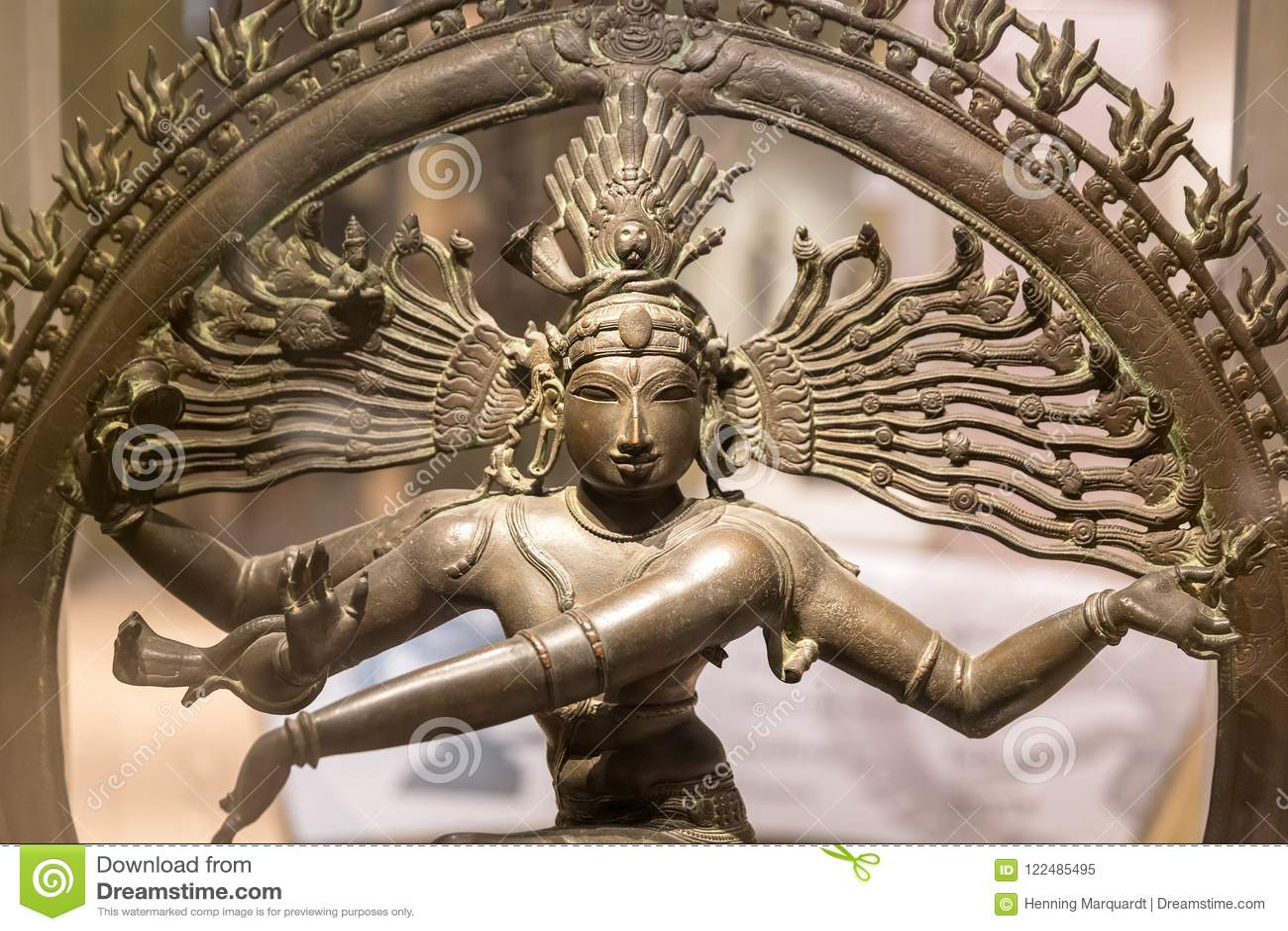 Sculpture de Nataraja, seigneur de la danse, New Delhi, Inde