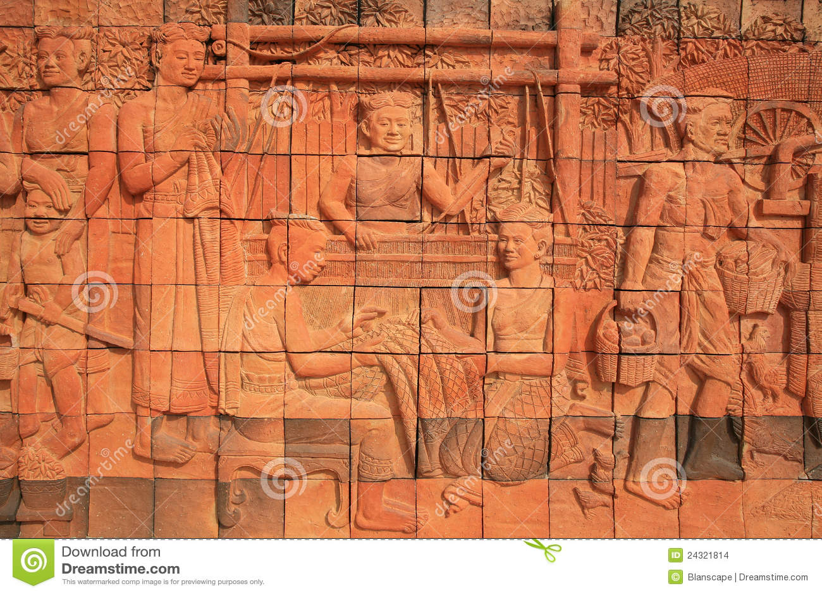 Sculpture decoration of ancient thai female stock images for Ancient decoration