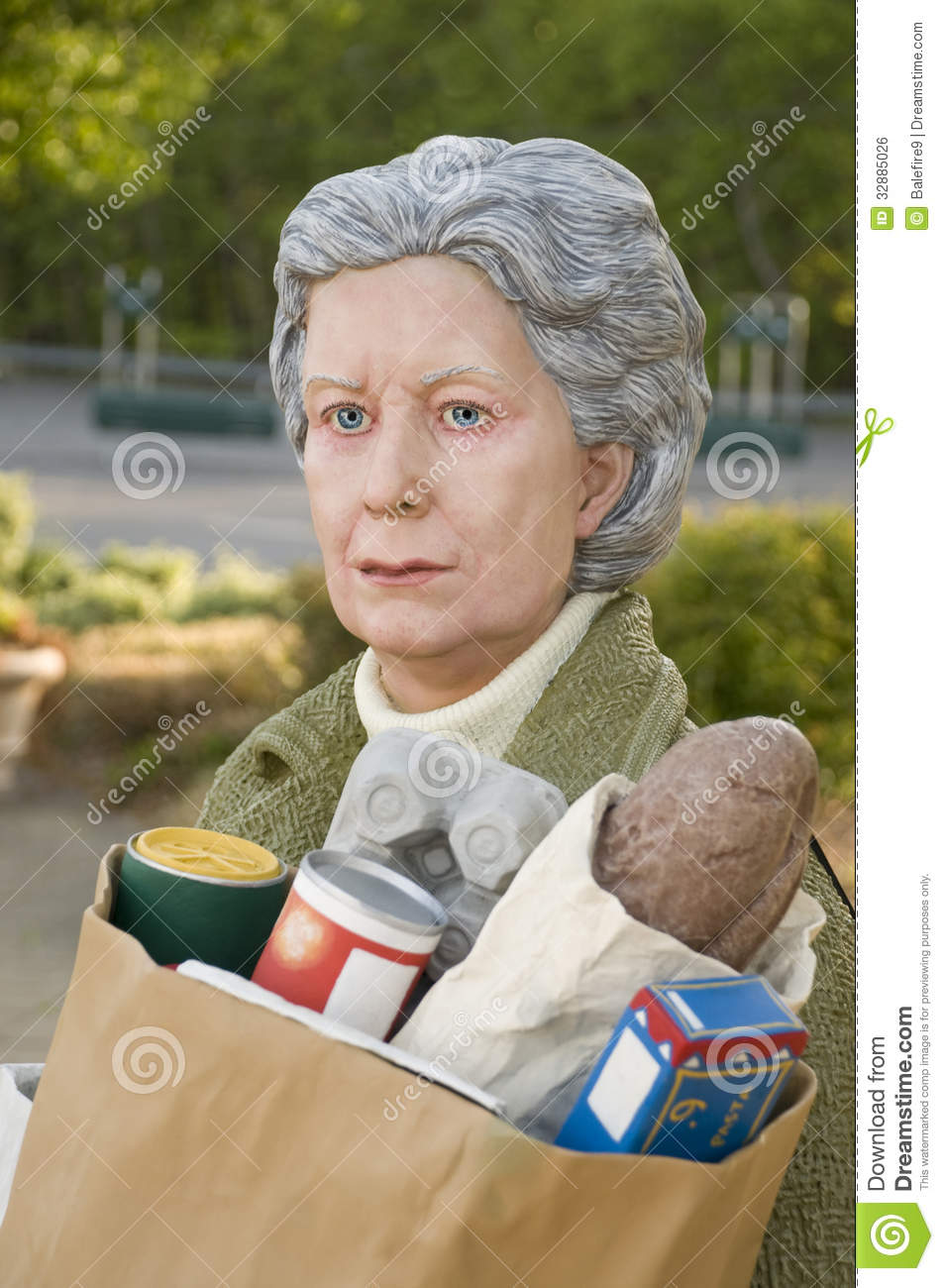 Sculpture of an elderly woman called editorial photo for John seward johnson i