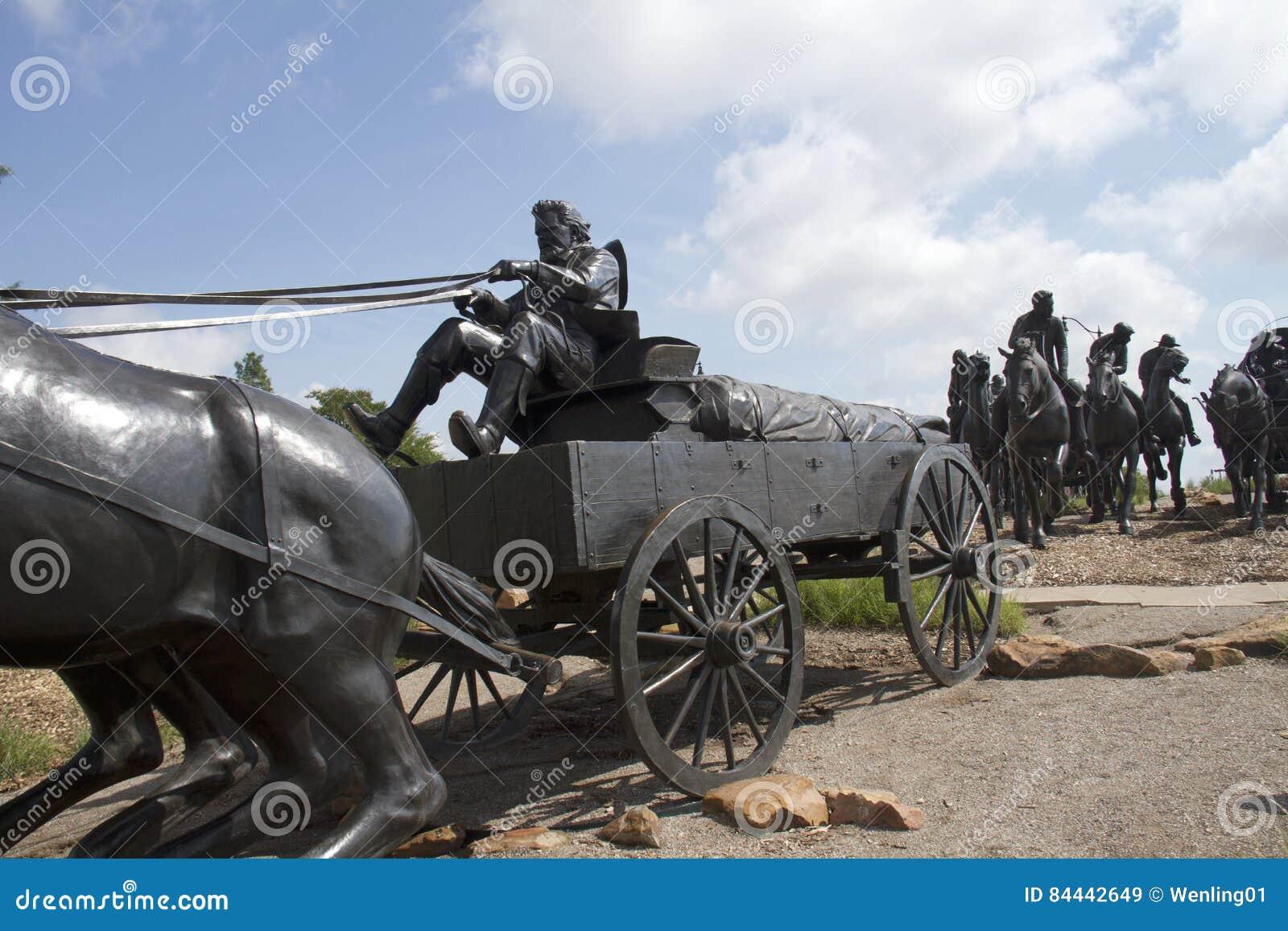 Sculpture en bronze dans l Oklahoma