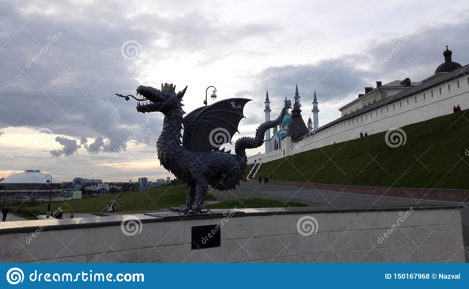 Sculpture en dragon à Kazan