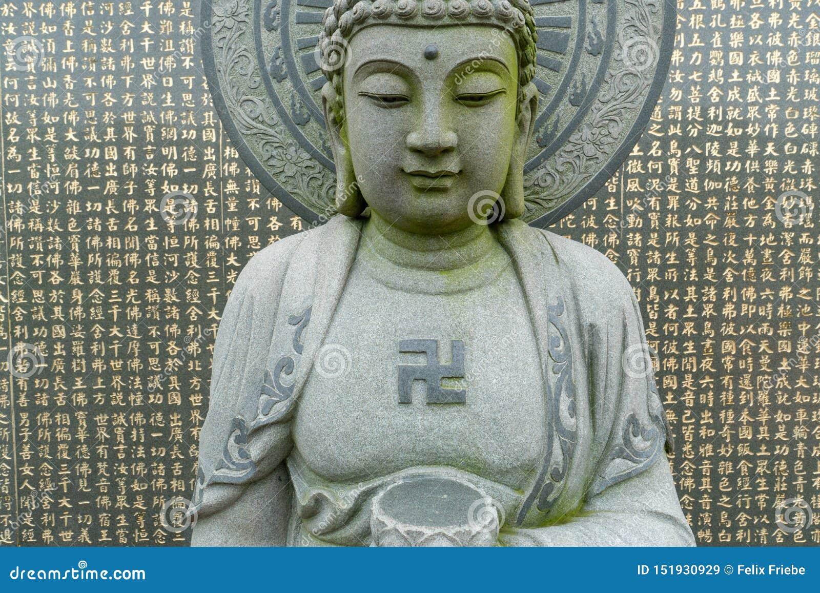 Sculpture en Relegious avec le svastika sur l île de Kinmen, Taïwan