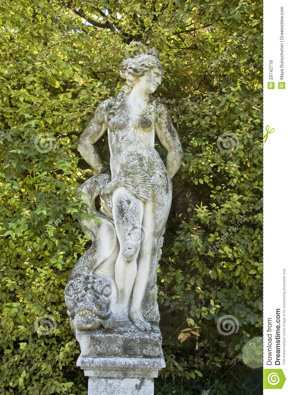 Sculpture In Formal Garden Royalty