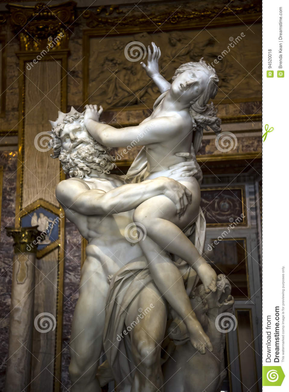 Sculpture By Gian Lorenzo Bernini In The Borghese Collection