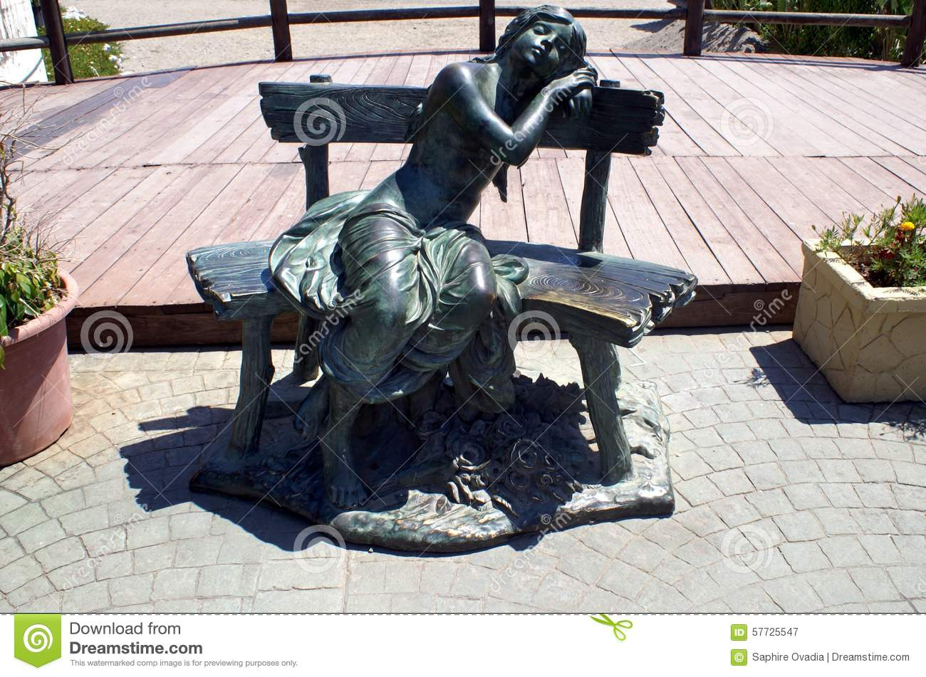 Fabulous Sculpture Of A Girl Relaxing On A Seat At Marbella Beach Pabps2019 Chair Design Images Pabps2019Com