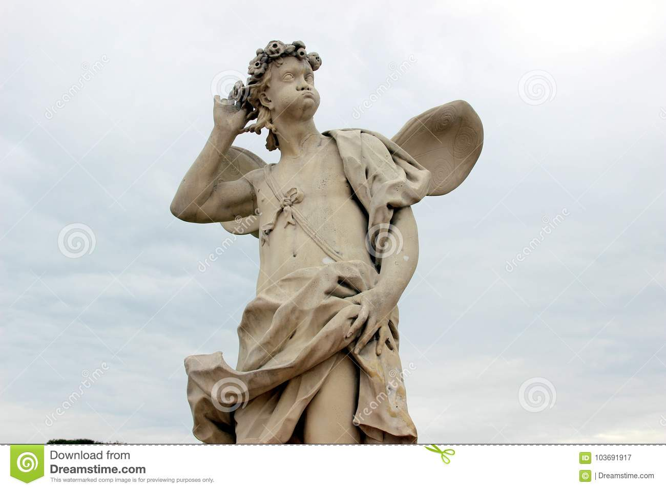 Sculpture of an important cupid