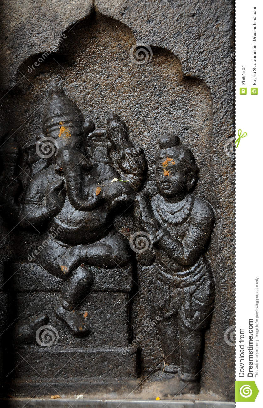 Sculpture of indian god ganesh stock photo image