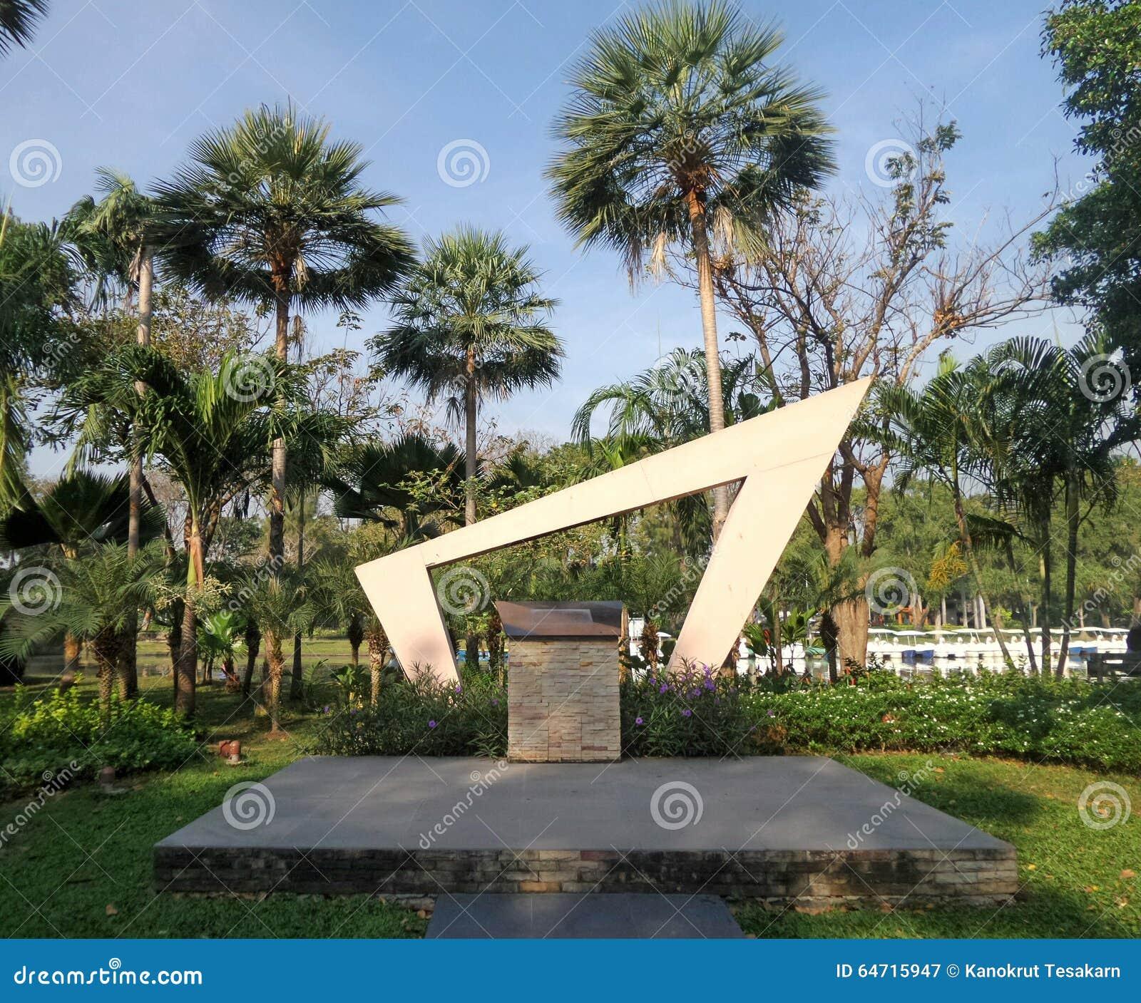 Sculpture Landmark In Jatuchak City Park Stock Photo