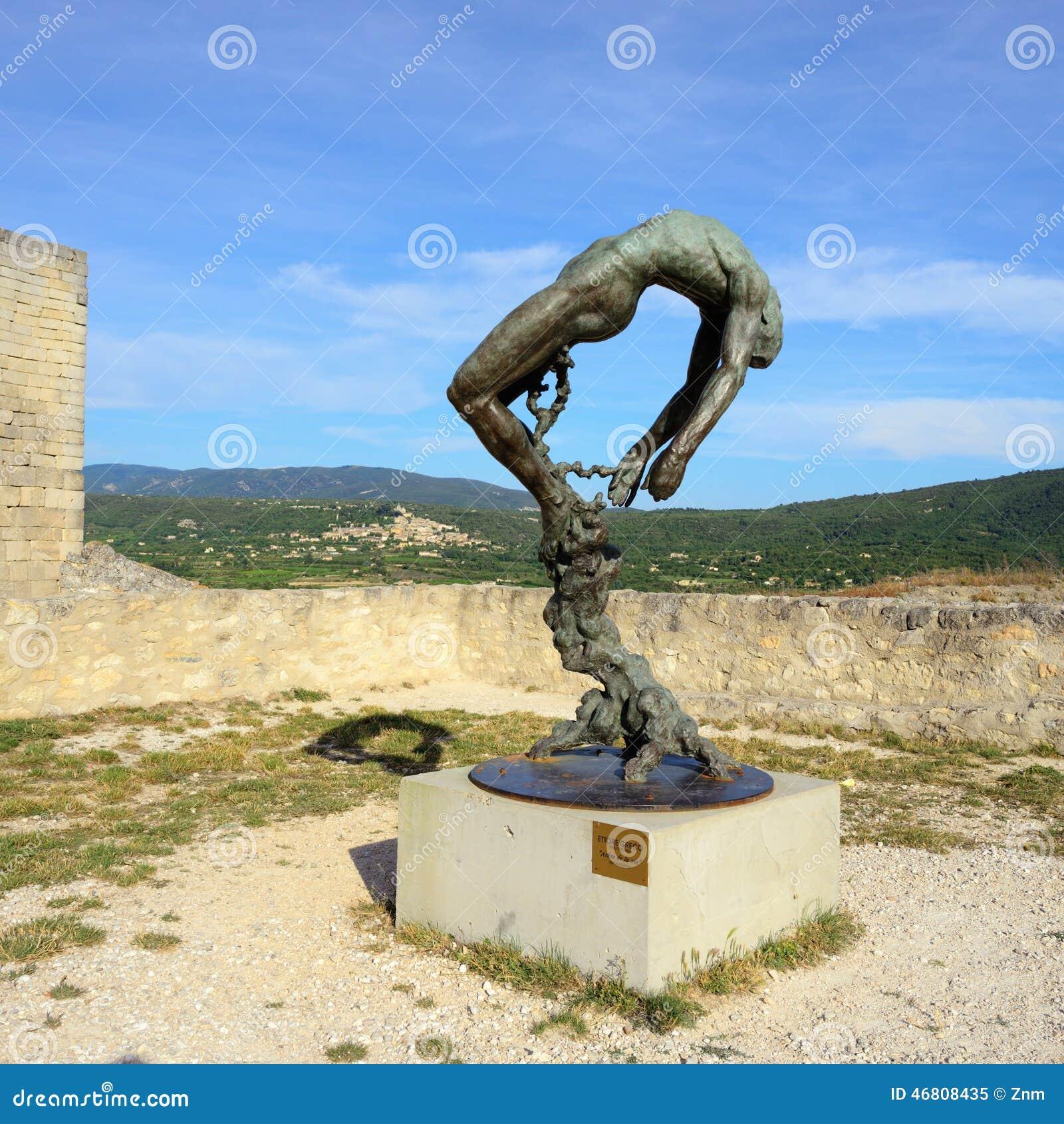Sculpture of the marquis de sade editorial image