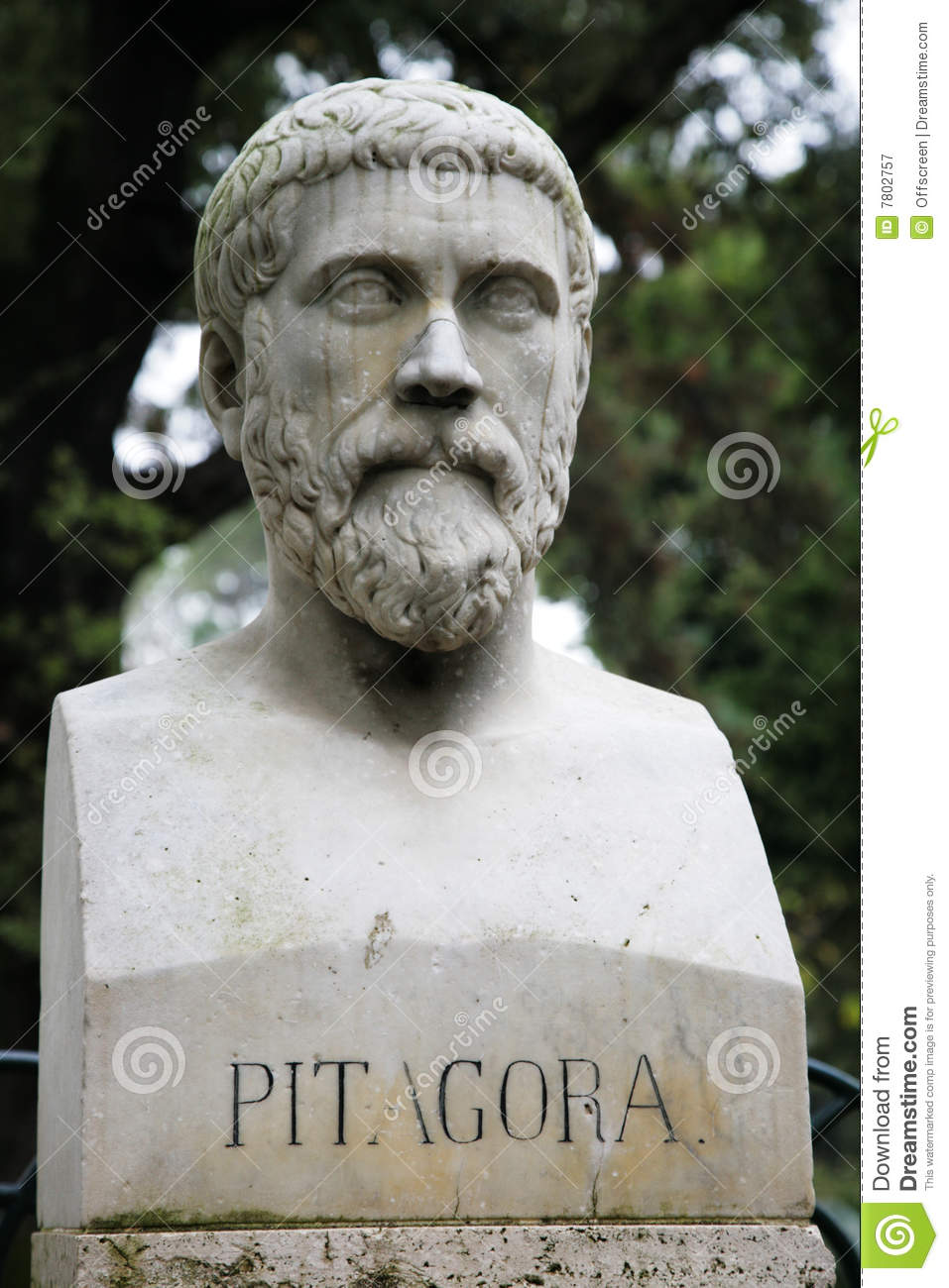 Classroom Design Elements ~ Sculpture of pythagoras royalty free stock photography