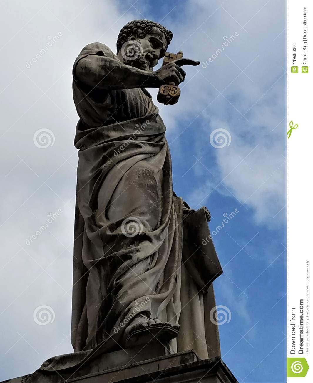 Sculpture of St. Peter in St. Peter`s Square