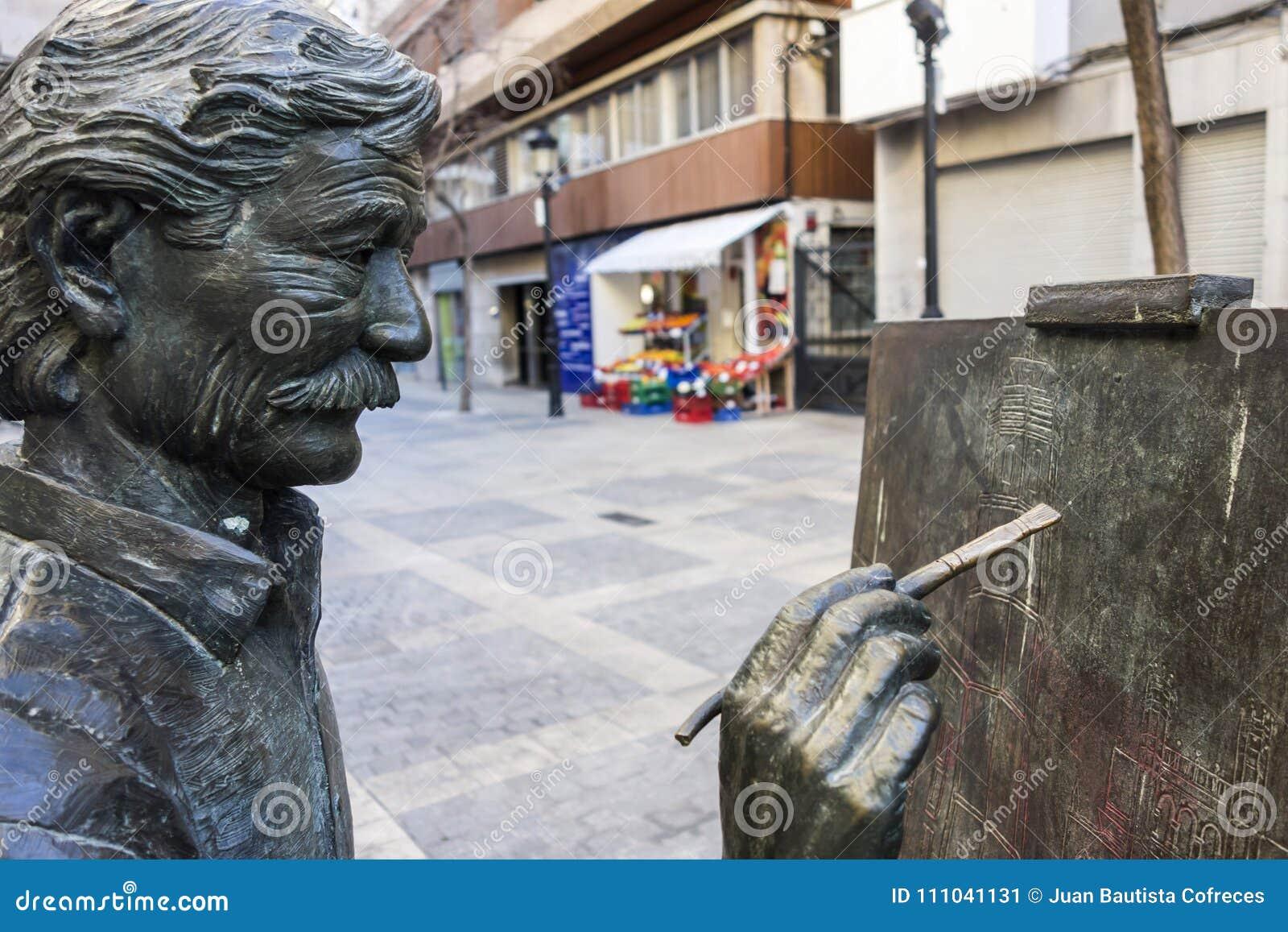 Sculpture Statue Tribute To Artist Juan Jose Salas By Carlos Ve Editorial Photo Image Of Artist Carlos 111041131