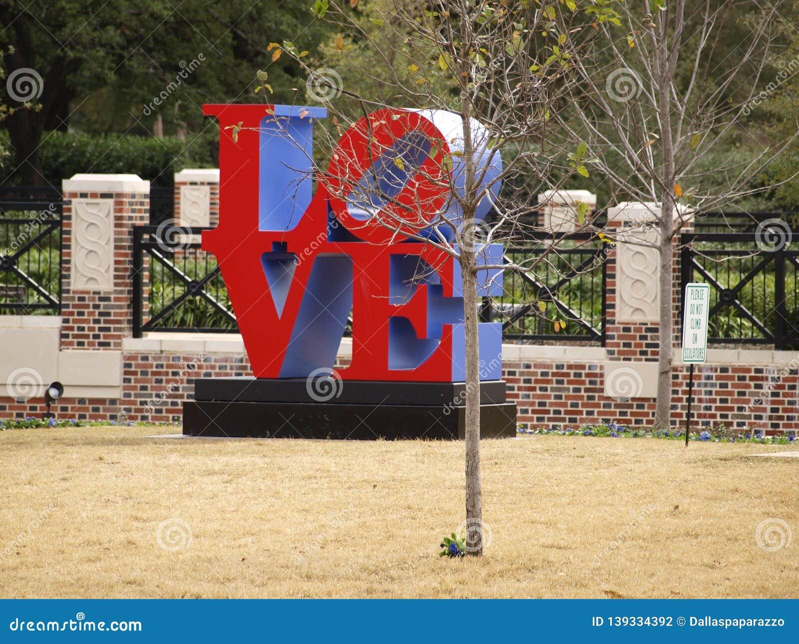 Robert Indiana Sculpture in University park, Texas