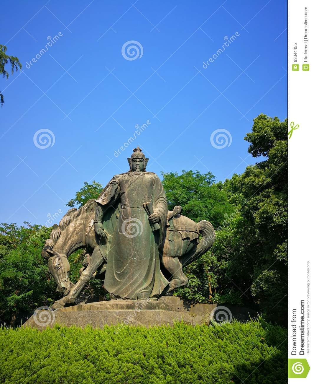 The sculpture of yue fei stock image  Image of ancient