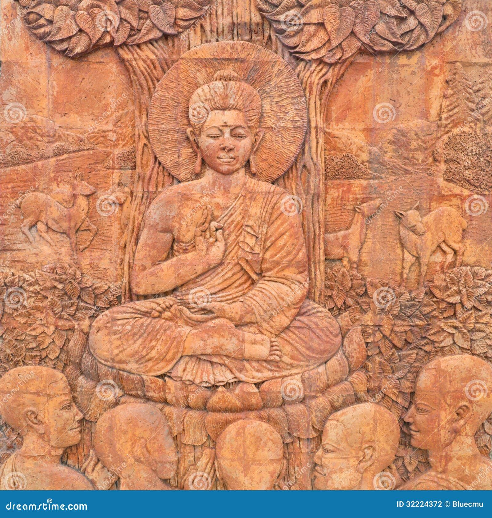 Sculptures en Bouddha dans le temple