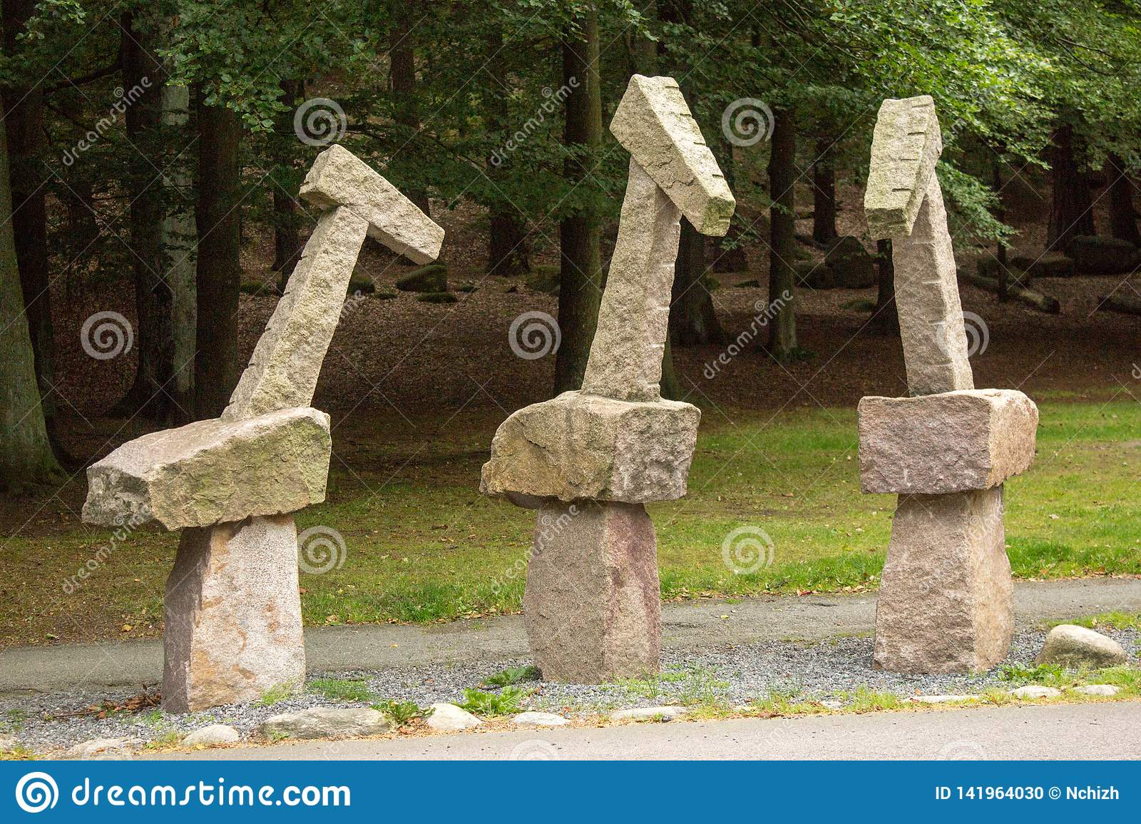 Sculptures in the Keillers Park, Gothenburg. `Three Graces` Per Agelii