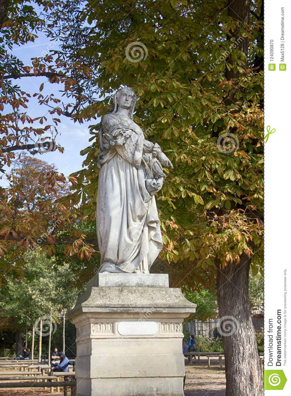 Sculptures Of The Luxembourg Garden Editorial Image Image
