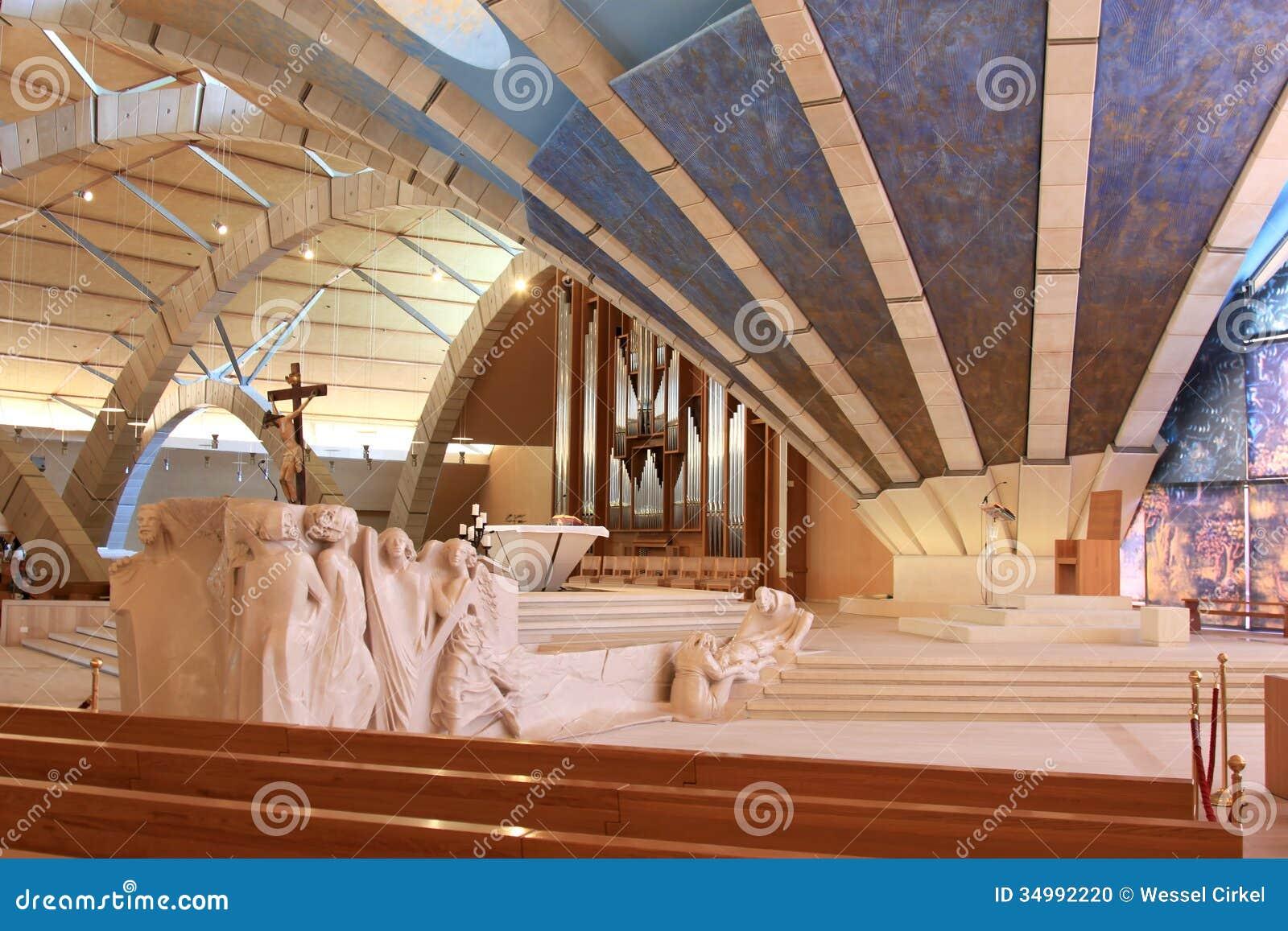 Sculptures In Padre Pio Pilgrimage Church Italy Editorial