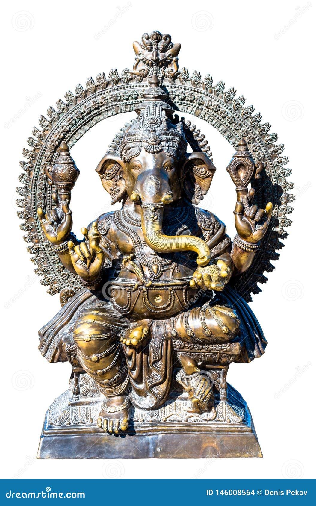Scultura bronzea di Dio Ganesh