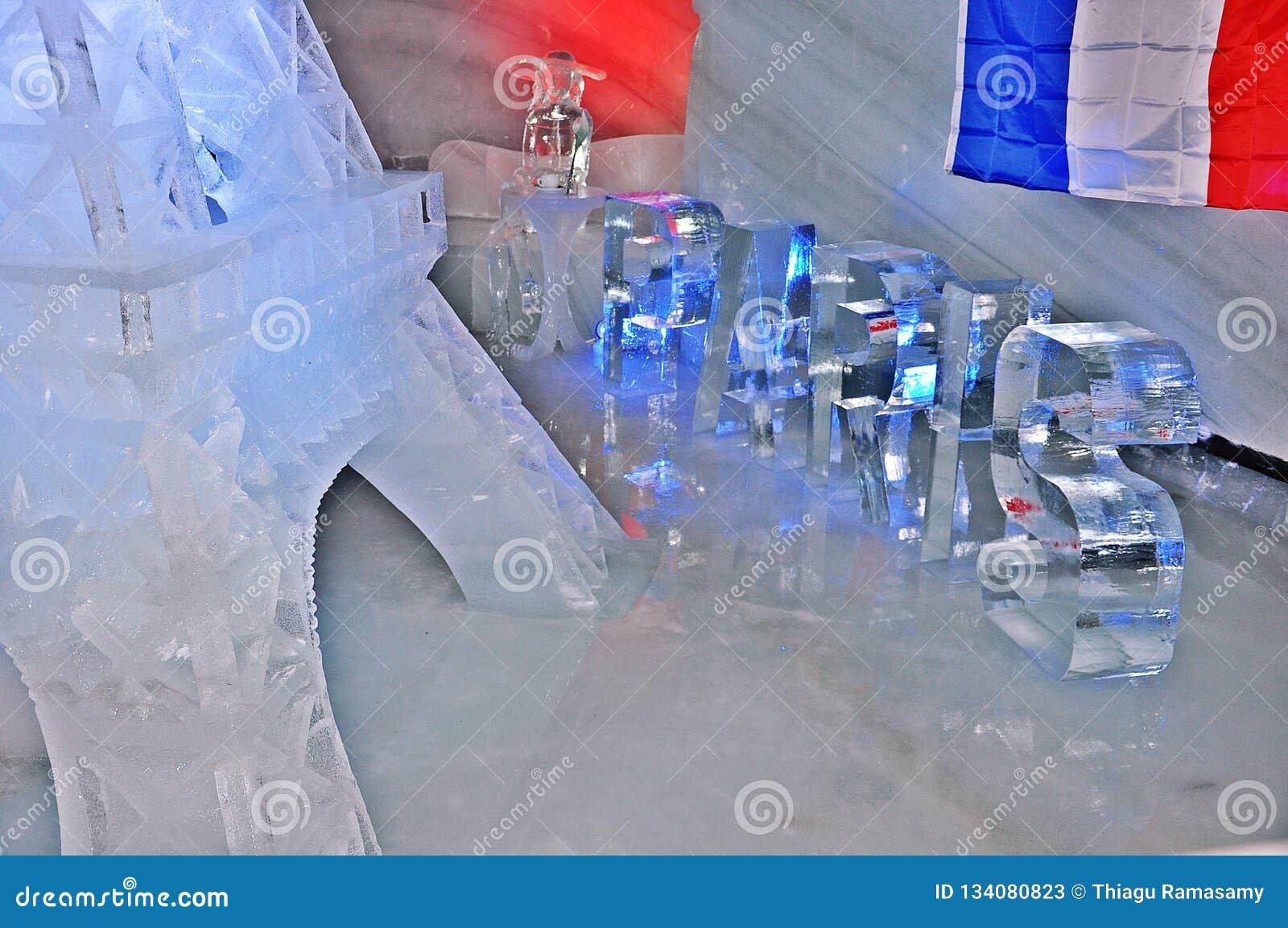 Scultura del ghiaccio di Dachstein - progettazione di Parigi