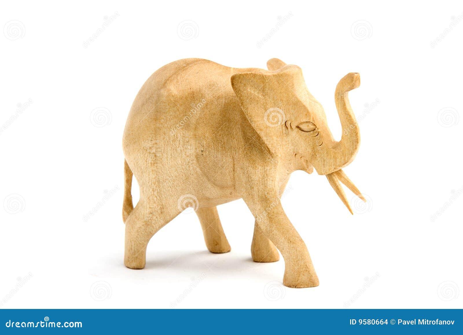 Scultura di legno dell 39 elefante fotografia stock - Elefante foglio di colore dell elefante ...