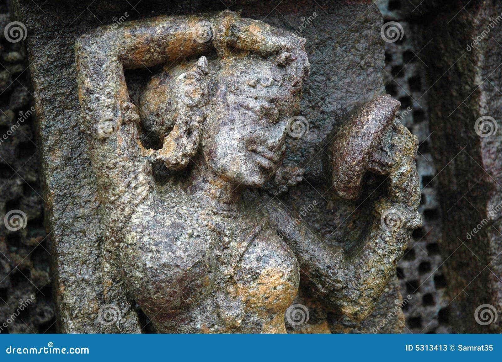 Download Scultura In Tempiale Di Konark Immagine Stock - Immagine di nero, tempiale: 5313413