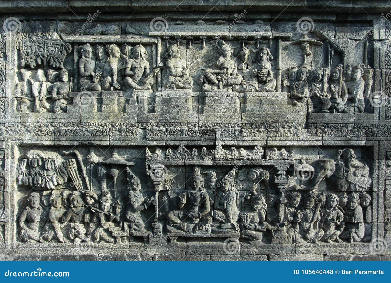 Sculture di sollievo in Borobudur