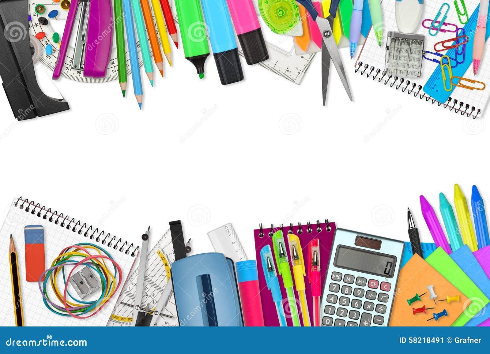 Scuola/articoli Per Ufficio Immagine Stock - Immagine di ...