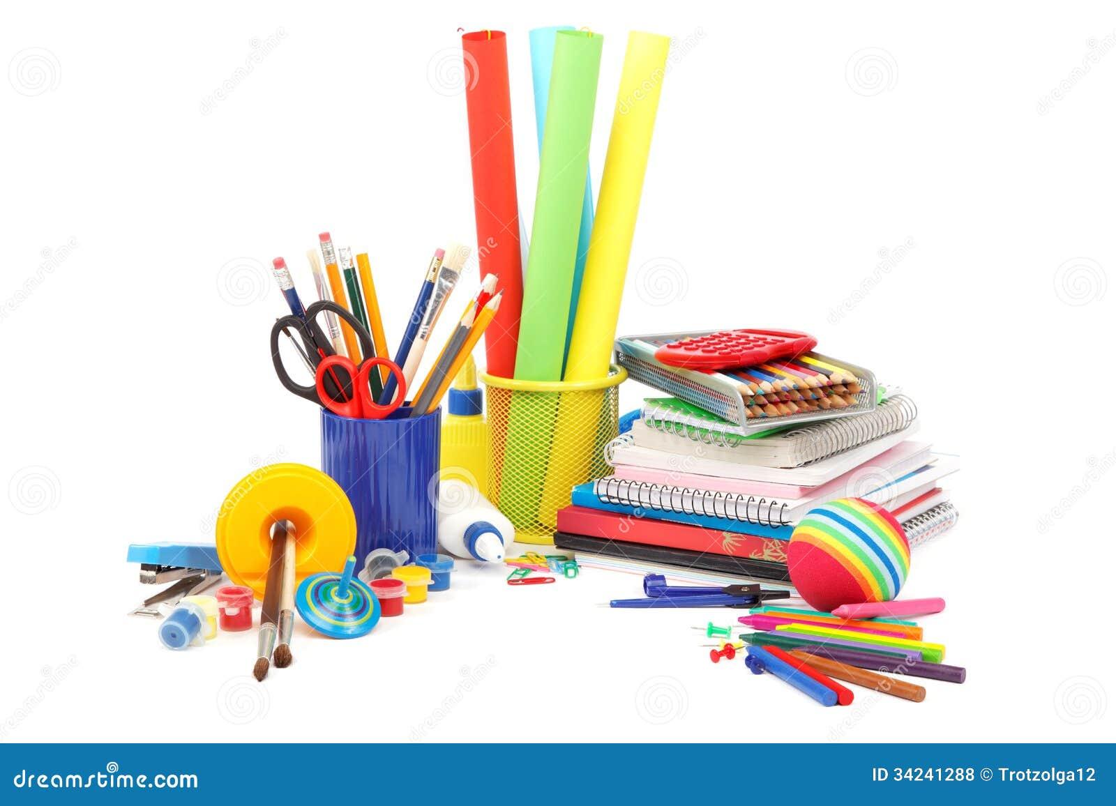 scuola e articoli per ufficio fotografia stock immagine