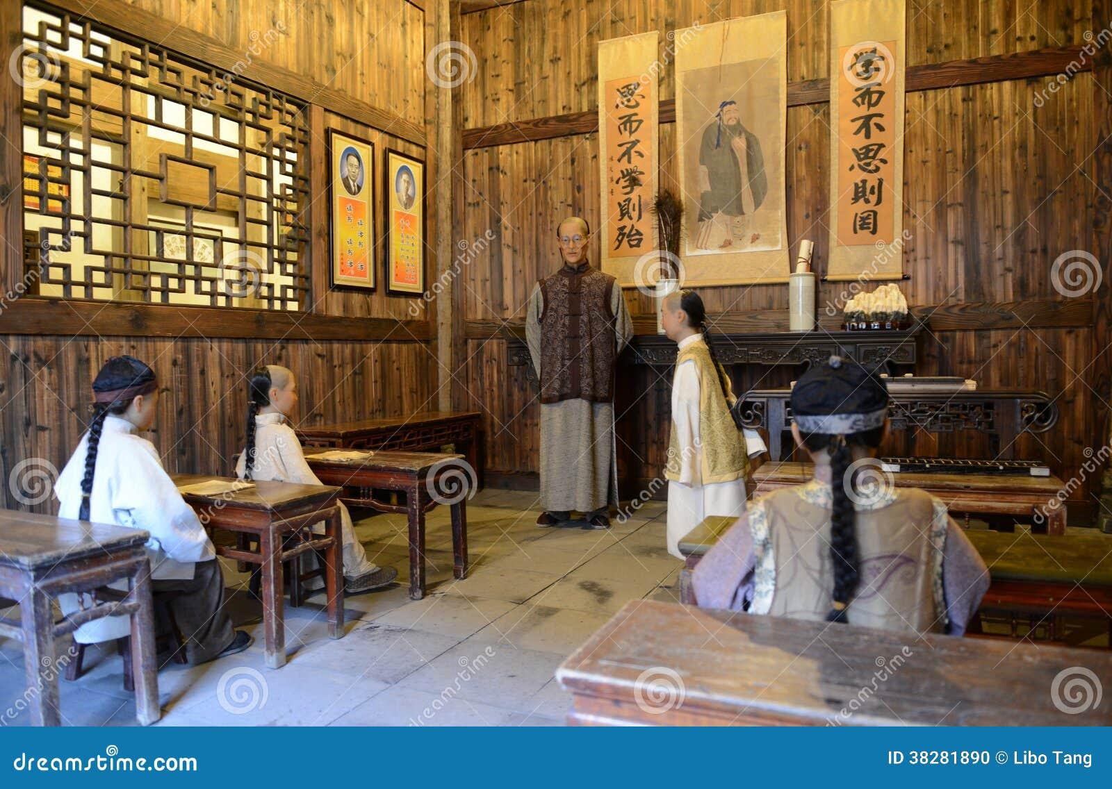 Scuola privata antiquata cinese