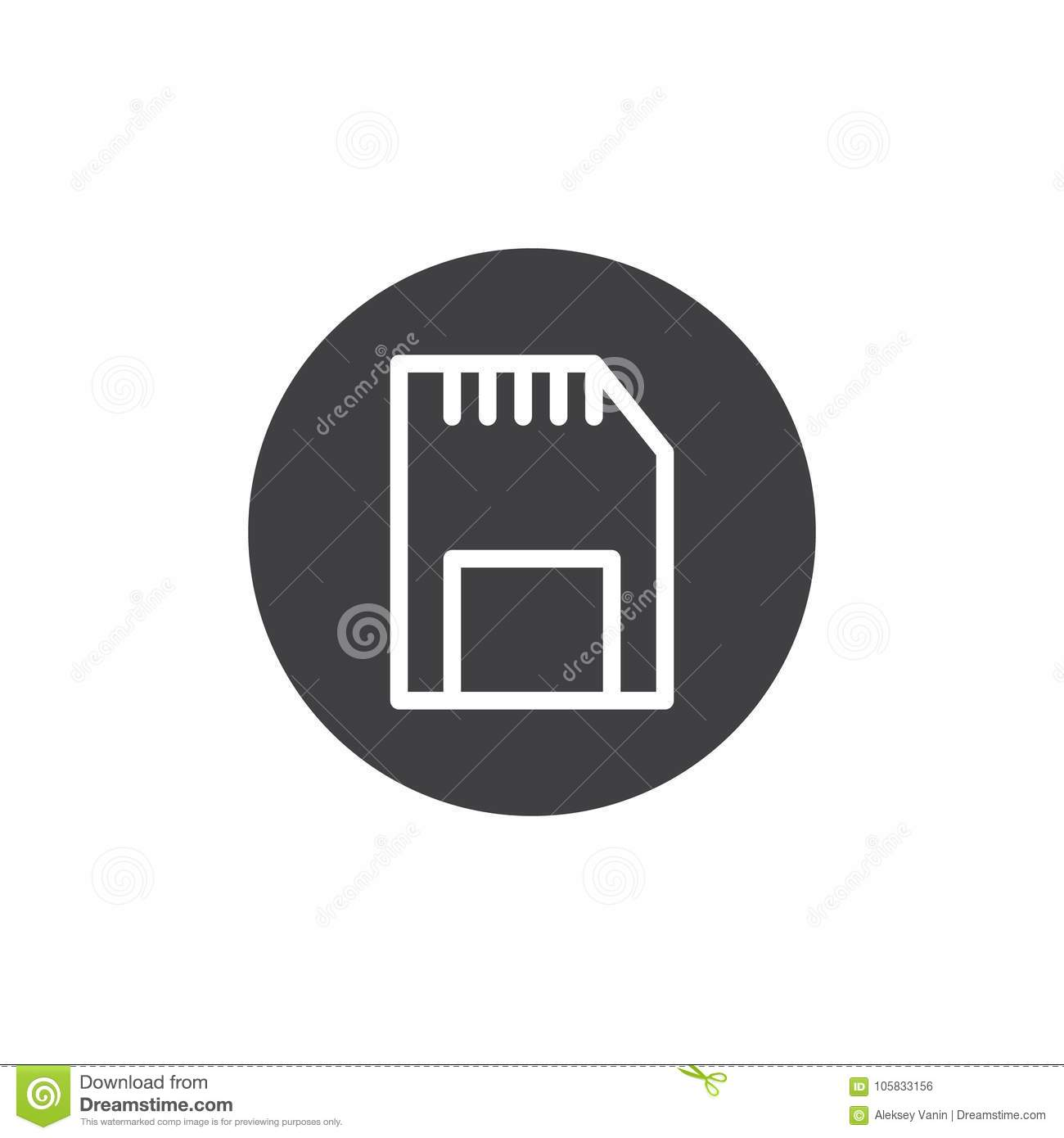 Sd Memory Card Icon Vector Stock Vector Illustration Of Logo