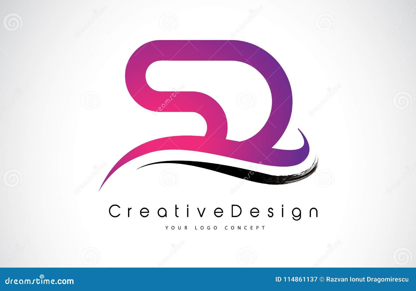Sd S D Letter Logo Design Creative Icon Modern Letters Vector L