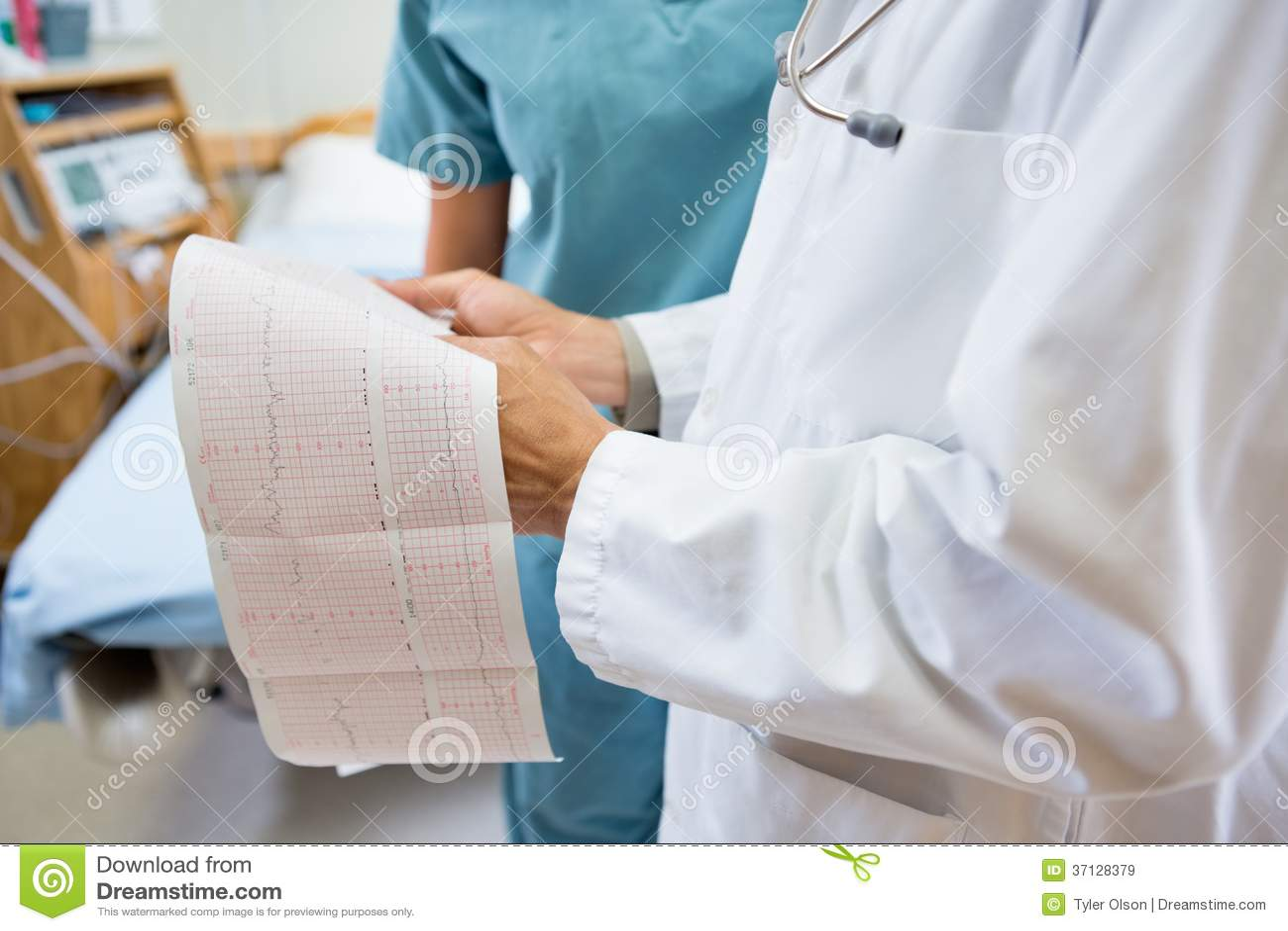 Seção mestra do doutor And Nurse With Fetal