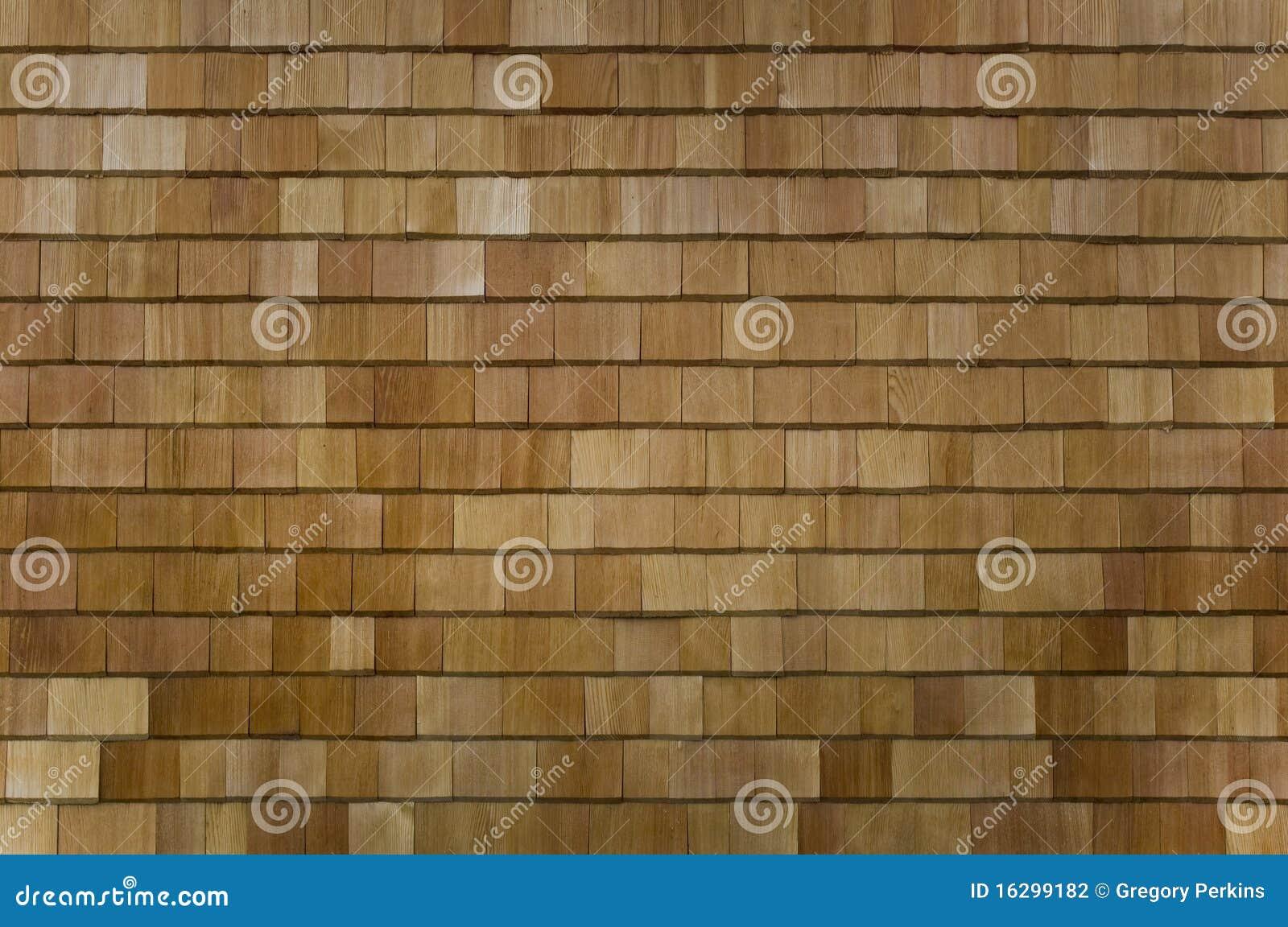Seção Shingled cedro da parede ou do telhado