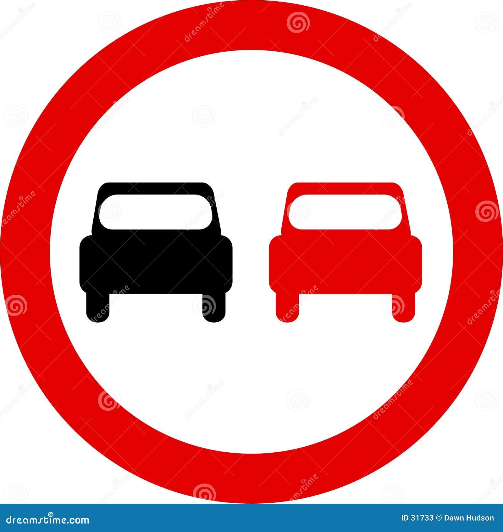 Download Señal de tráfico ilustración del vector. Ilustración de overtaking - 31733