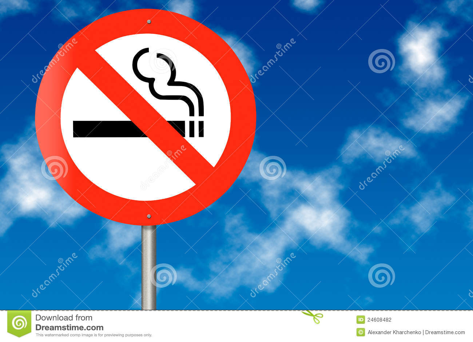 Señal de tráfico de no fumadores
