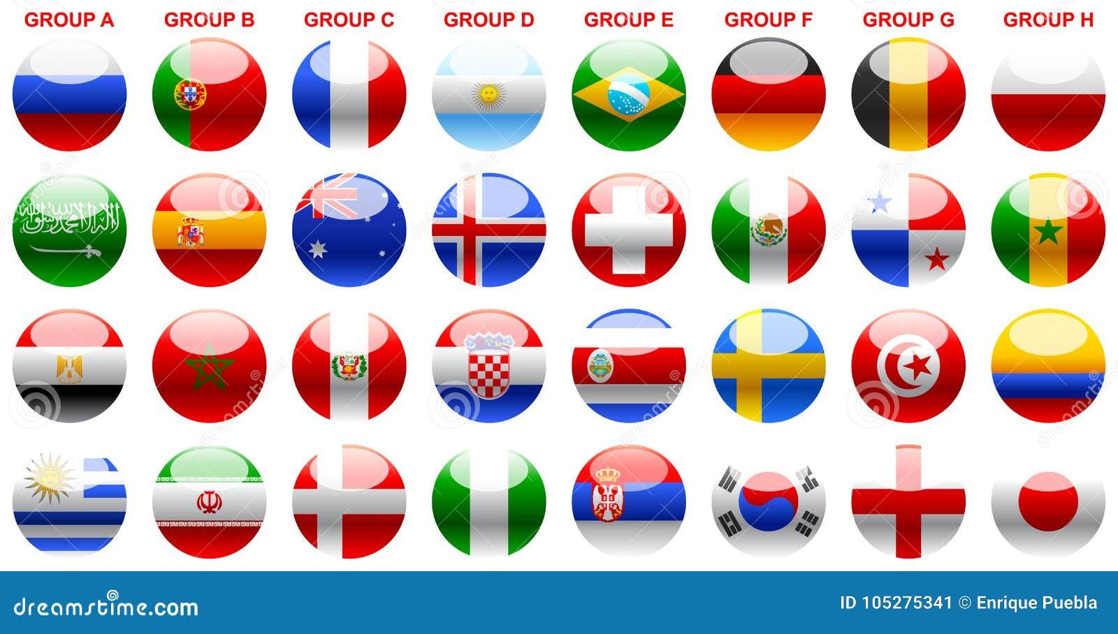 Señala el fútbol Rusia 2018 del mundial por medio de una bandera de s
