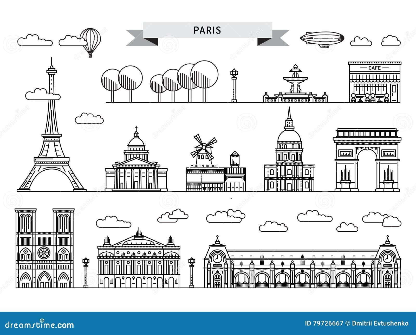 Señales arquitectónicas de París