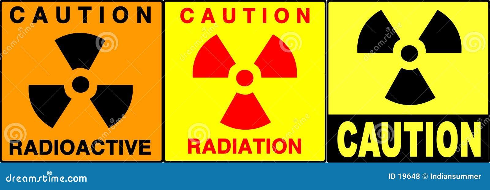 Señales de la precaución/de peligro fijadas