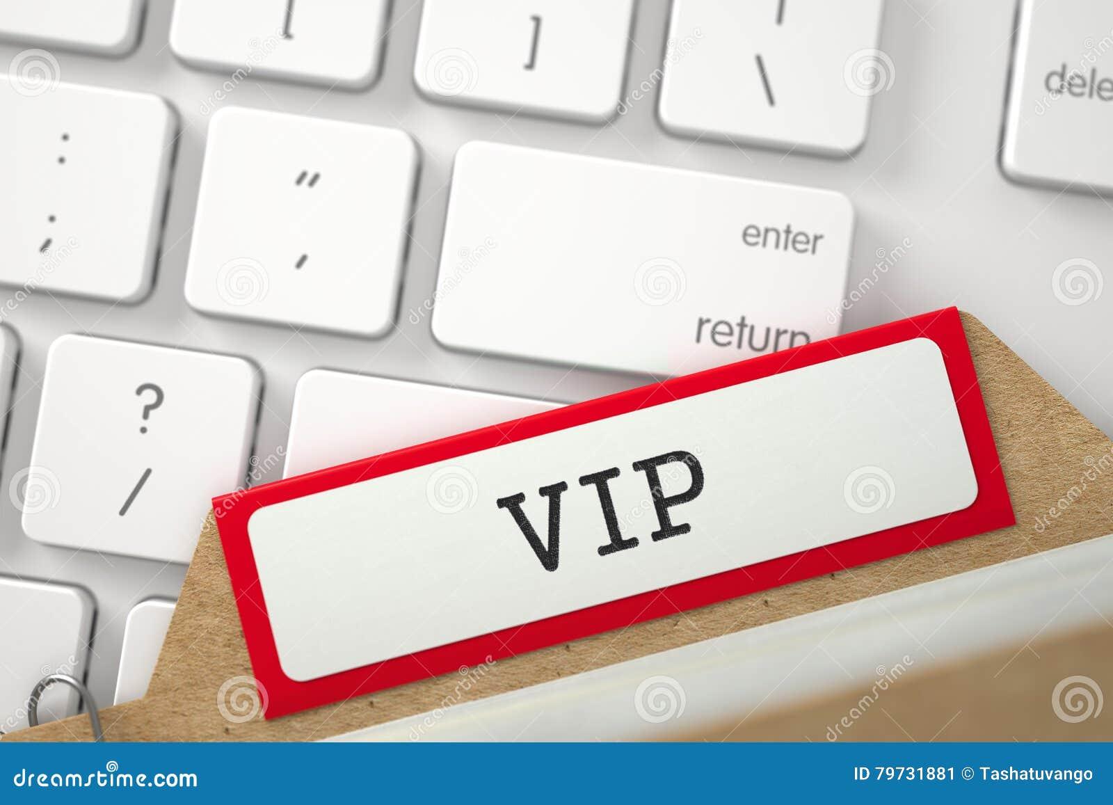Señales del archivo del índice de tarjeta con el VIP 3d
