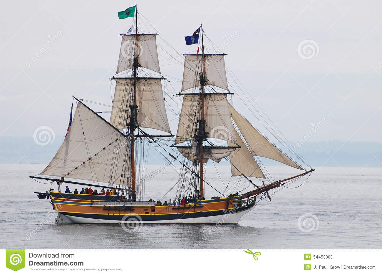 Señora alta Washington de la nave