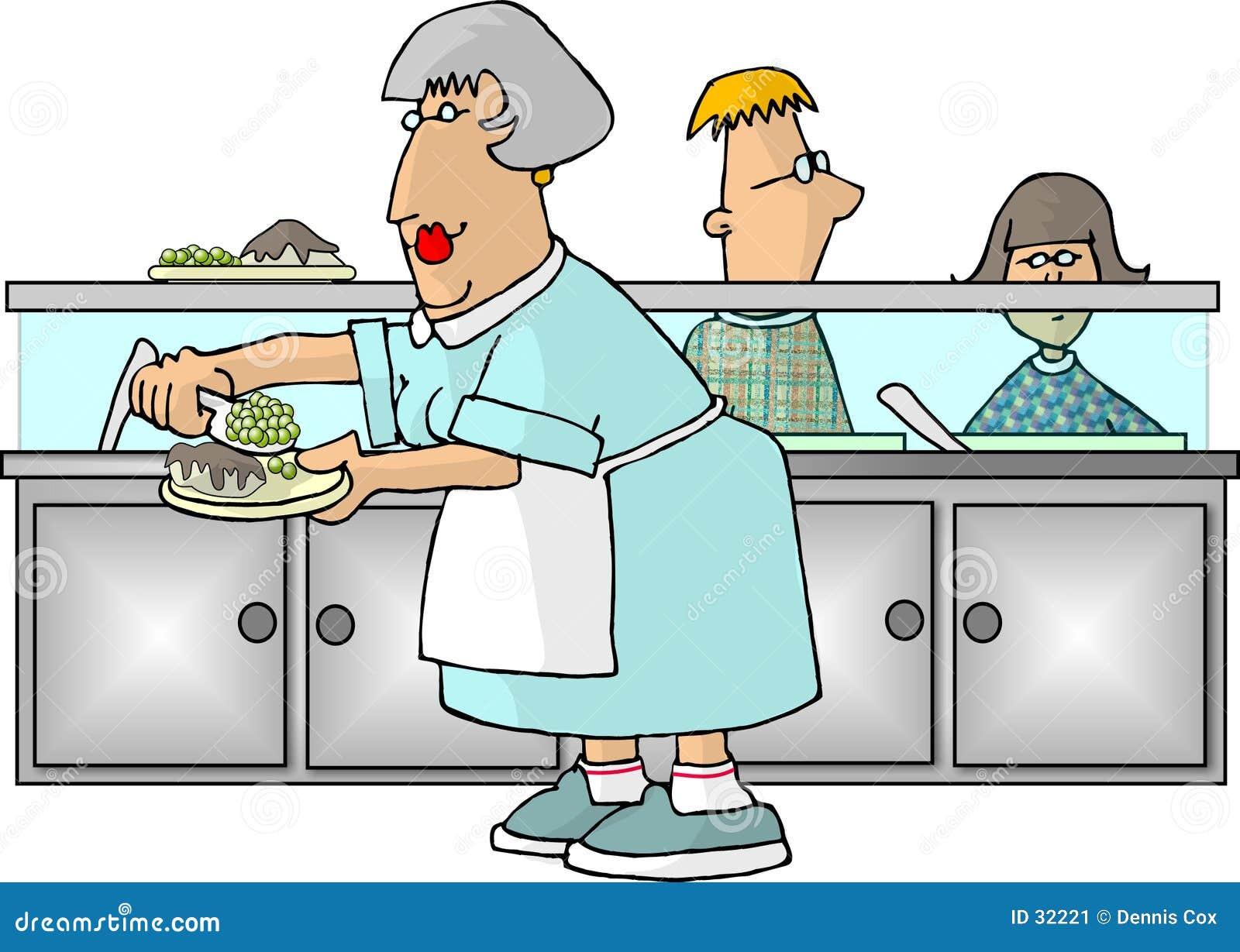 Se 241 Ora De La Cafeter 237 A De Escuela Imagen De Archivo