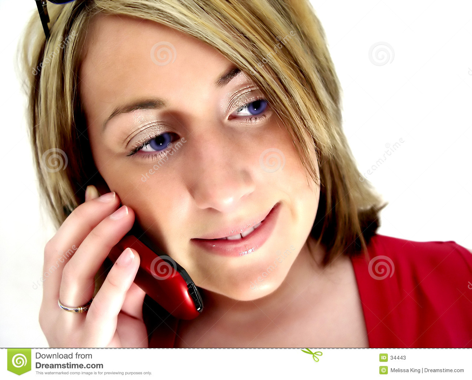 Señora en el teléfono celular